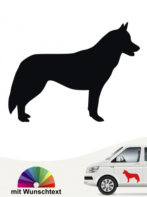 Siberian Husky Autoaufkleber mit Wunschtext anfalas.de