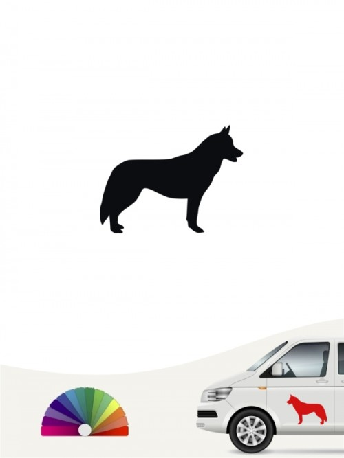 Siberian Husky Heckscheibenaufkleber anfalas.de