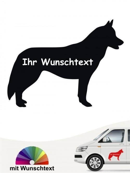 Siberian Husky Silhouette mit Wunschname Sticker anfalas.de