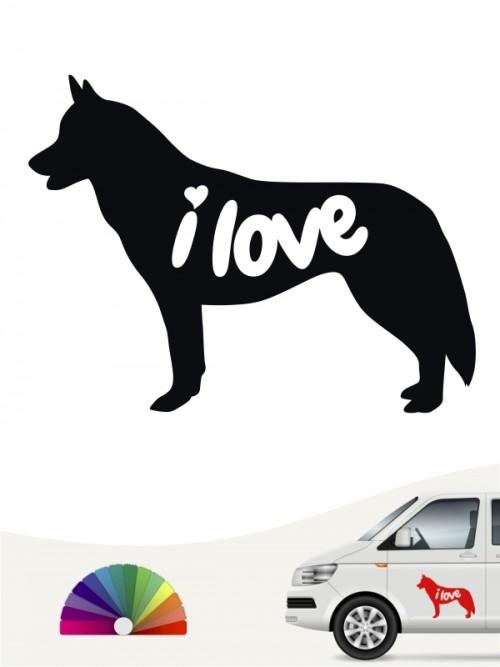 Siberian Husky  i love Aufkleber von anfalas.de