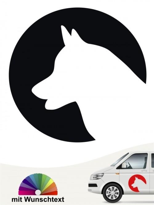 Siberian Husky Hundeaufkleber von anfalas.de