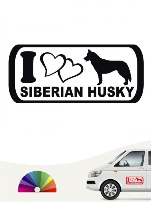 I Love Siberian Husky Sticker anfalas.de