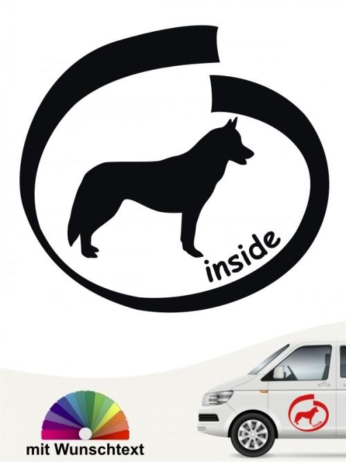 Siberian Husky inside Hundeaufkleber mit Wunschtext anfalas.de