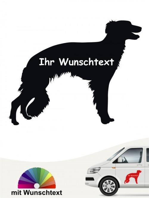 Hunde-Autoaufkleber Silken Windsprite 3 von Anfalas.de