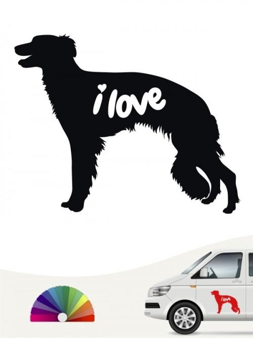 Hunde-Autoaufkleber Silken Windsprite 43 von Anfalas.de