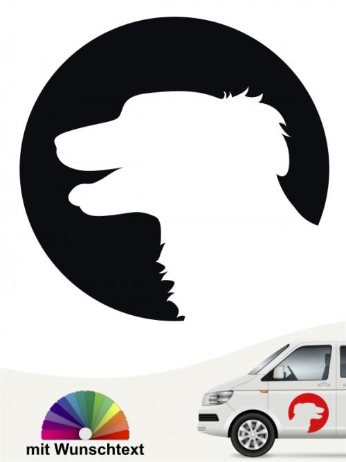 Hunde-Autoaufkleber Silken Windsprite 45 von Anfalas.de