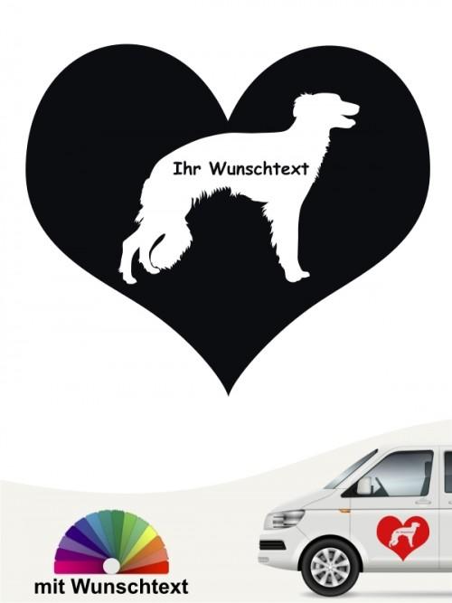 Hunde-Autoaufkleber Silken Windsprite 4 von Anfalas.de