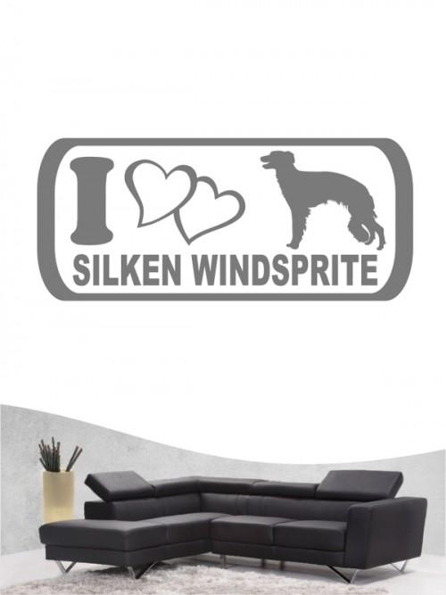 Hunde-Wandtattoo Silken Windsprite 6 von Anfalas.de