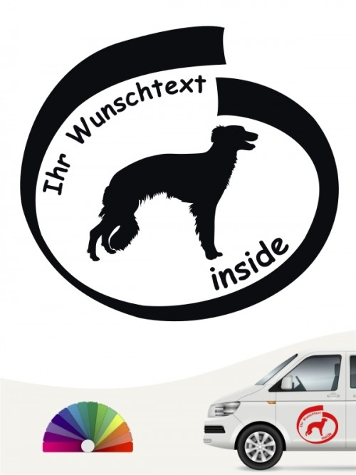 Hunde-Autoaufkleber Silken Windsprite 8 von Anfalas.de
