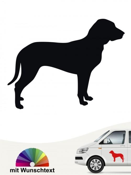 Slovensky Kopov Hundeaufkleber mit Wunschtext anfalas.de