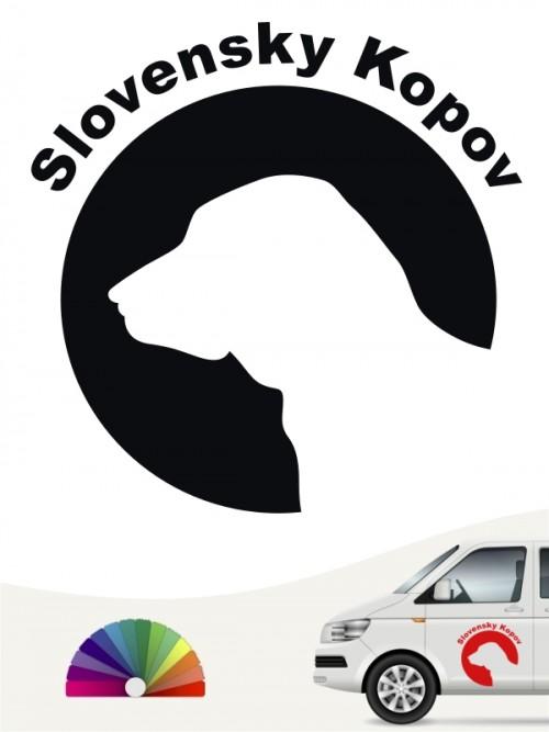 Slovensky Kopov Hundeaufkleber von anfalas.de