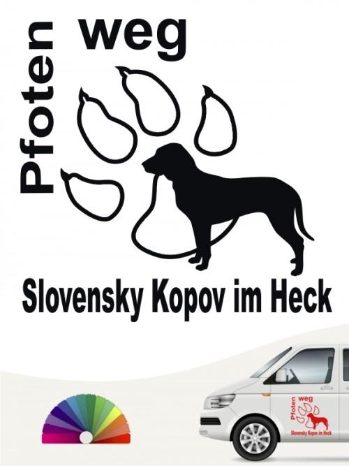 Pfoten weg Hundeaufkleber Slovensky Kopov anfalas.de