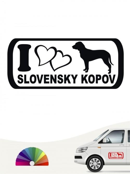 I Love Slovensky Kopov Autoaufkleber anfalas.de