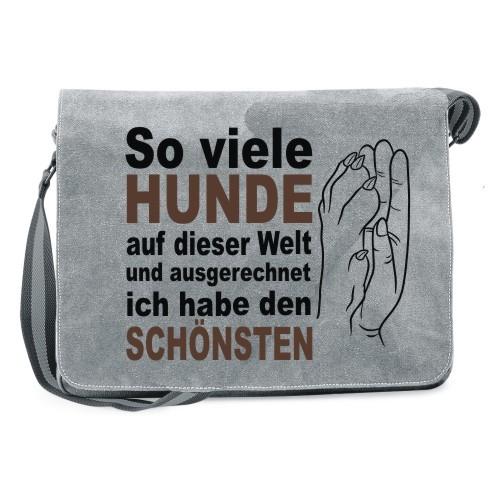 """Canvas Umhängetasche """"So viele Hunde"""" von anfalas.de"""