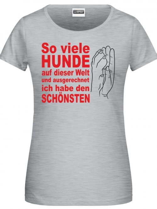 So viele Hunde Damen Shirt grey heather