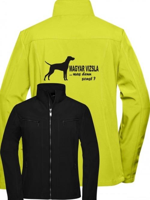 Softshell-Jacke mit Hundemotiv von Anfalas.de 2