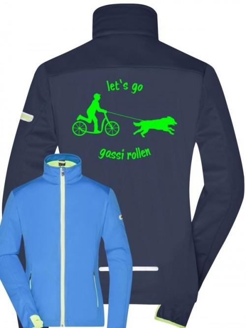 Sport Softshell-Jacke mit Wunschmotiv uind Text von Anfalas