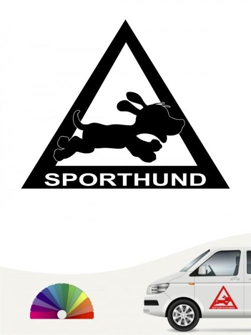 Hunde-Autoaufkleber Sporthund 1 von Anfalas.de