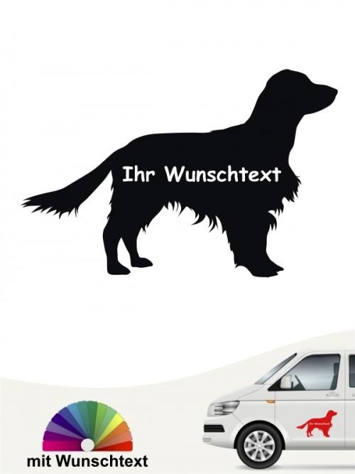 Springer Spaniel Silhouette mit Wunschtext Autosticker anfalas.de