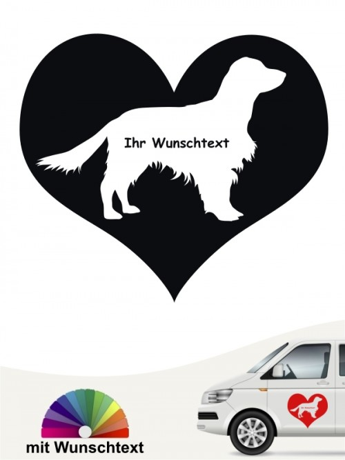 Springer Spaniel Autoaufkleber Herzmotiv anfalas.de