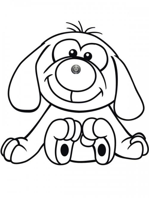 Türspion Wandtattoo Hunde Comic mit Wunschtext von anfalas.de