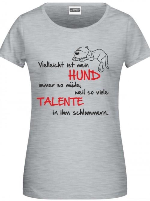 Talente Damen Shirt grey heather
