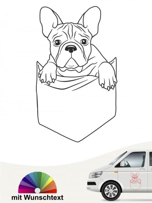 Hunde-Autoaufkleber Taschen Bulldogge von Anfalas.de