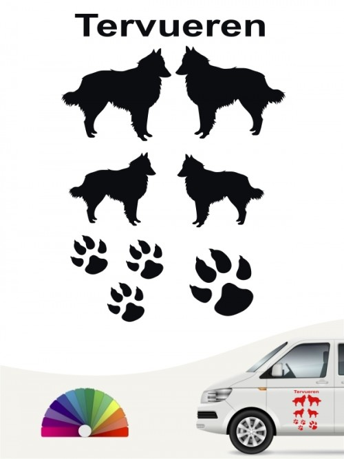 Tervueren Hundeaufkleber als Set anfalas.de