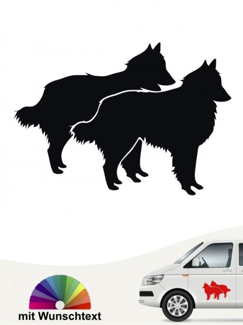 Tervueren Silhouette Hundeaufkleber mit Wunschtext anfalas.de