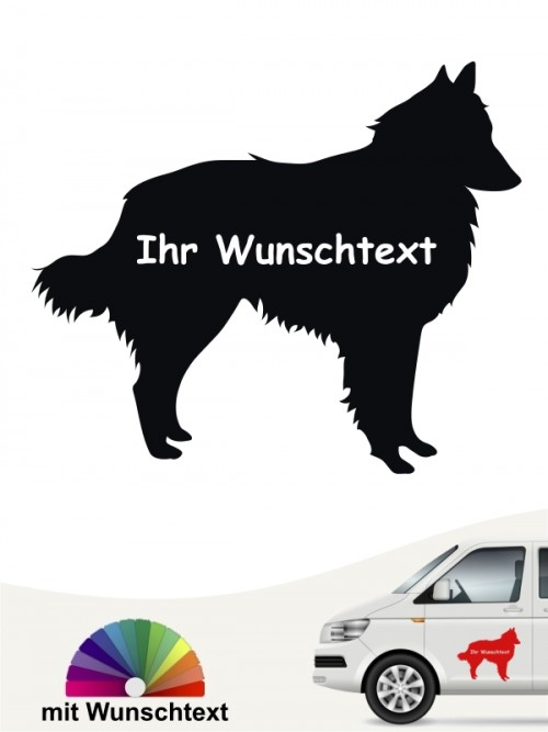 Tervueren Silhouette Autosticker mit Wunschname anfalas.de