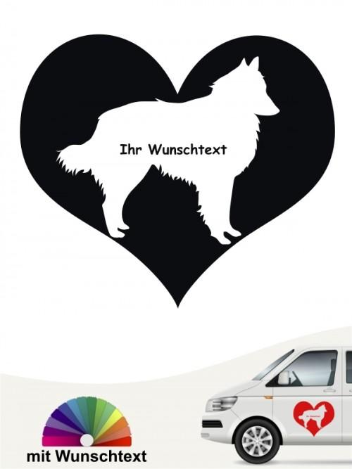 Tervueren Aufkleber als Herzmotiv mit Wunschtext anfalas.de