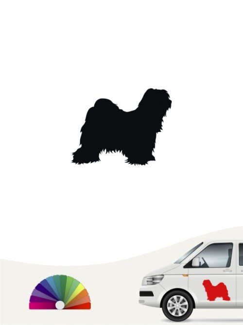 Tibet Terrier Heckscheibenaufkleber anfalas.de
