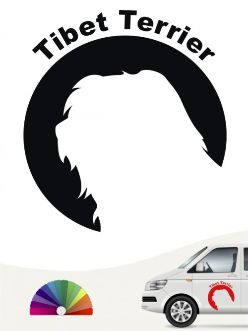 Tibet Terrier Hundeaufkleber von anfalas.de