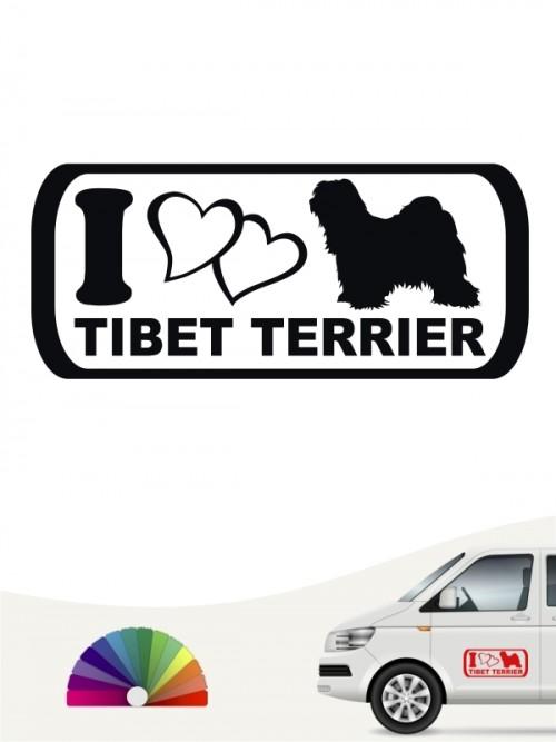 I Love Tibet Terrier Heckscheibenaufkleber anfalas.de