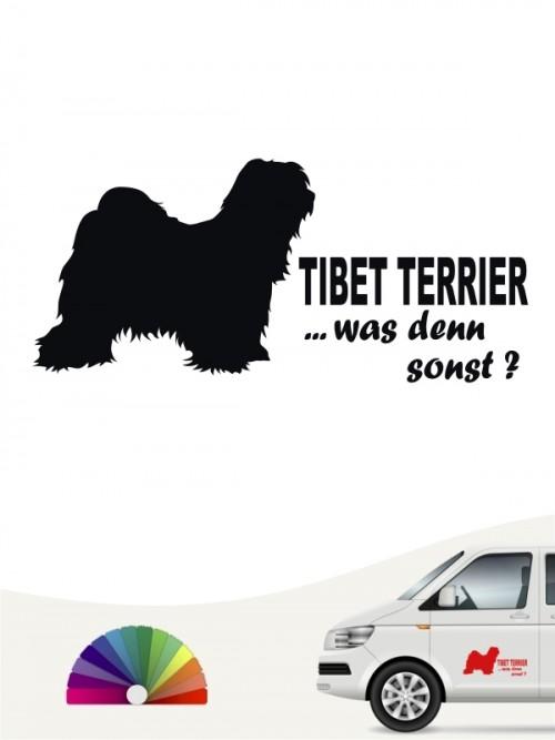 Tibet Terrier was denn sonst Autosticker anfalas.de