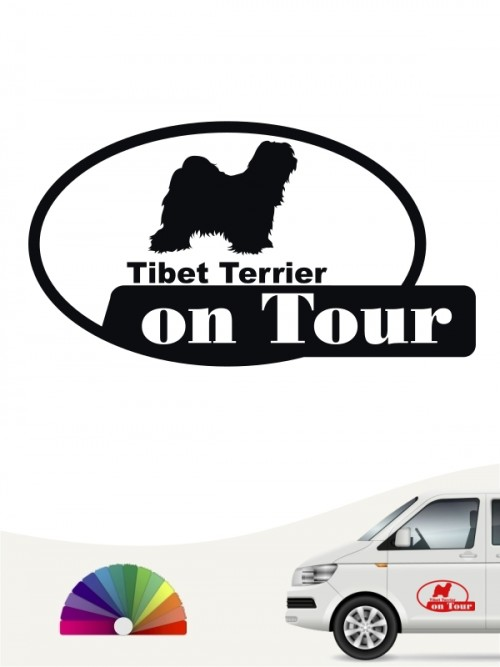 Tibet Terrier on Tour Autosticker anfalas.de