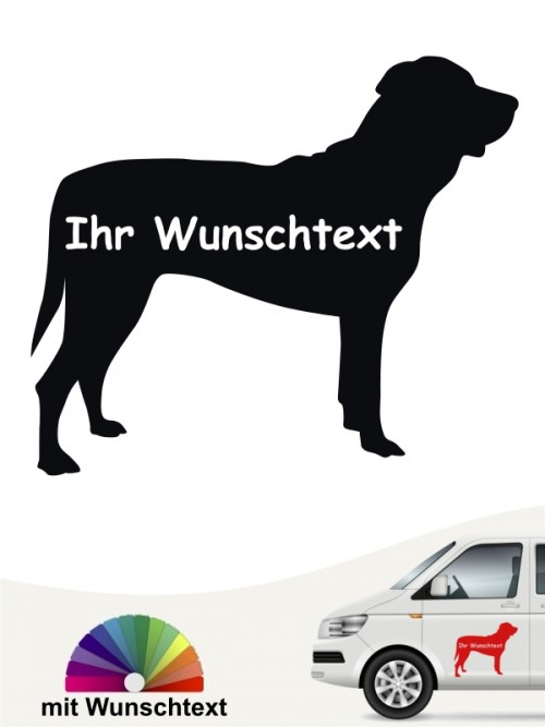 Tosa Inu Hundeaufkleber mit Wunschname anfalas.de