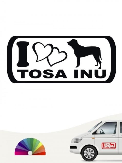 I Love Tosa Inu Heckscheibenaufkleber anfalas.de