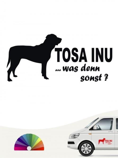 Was denn sonst Tosa Inu Autosticker anfalas.de