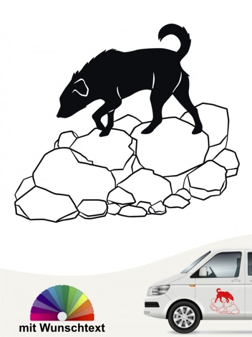 Trümmerhunde 2 Aufkleber von Anfalas.de