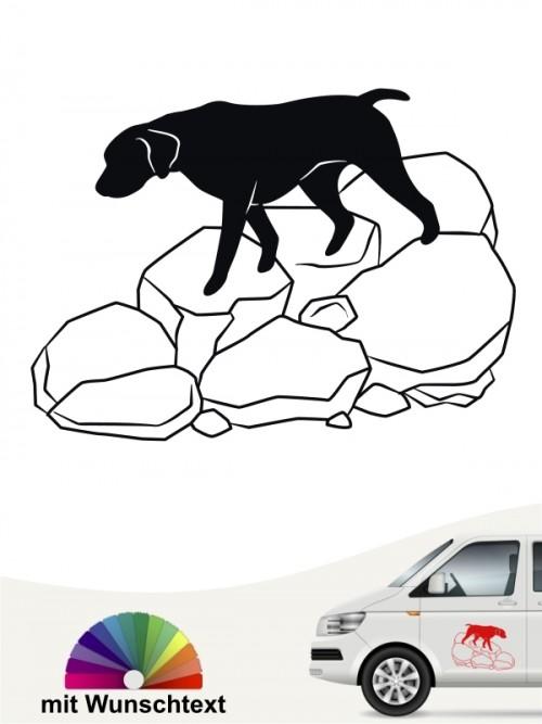 Trümmerhunde 3 Aufkleber von Anfalas.de