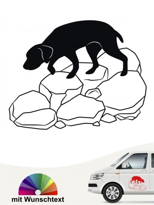 Trümmerhunde 4 Aufkleber von Anfalas.de