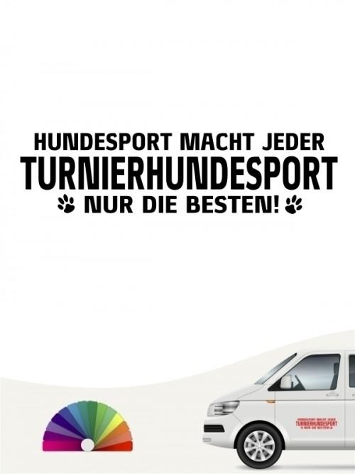 Hunde-Autoaufkleber Turnierhundesport nur die Besten von Anfalas.de
