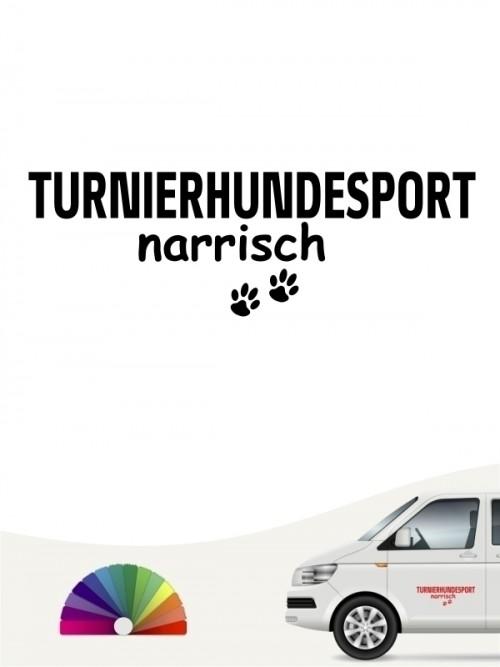 Hunde-Autoaufkleber Turnierhundesport narrisch von Anfalas.de