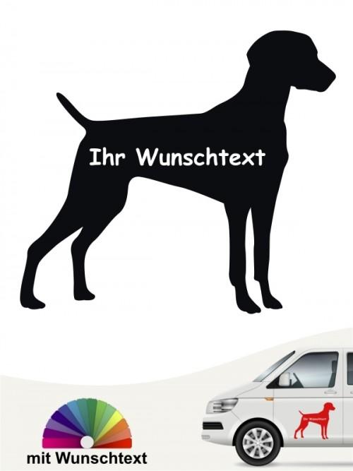 Weimaraner Silhouette Aufkleber mit Wunschname anfalas.de