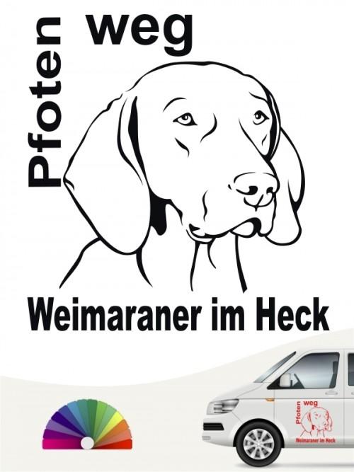 Weimaraner Pfoten weg Aufkleber anfalas.de