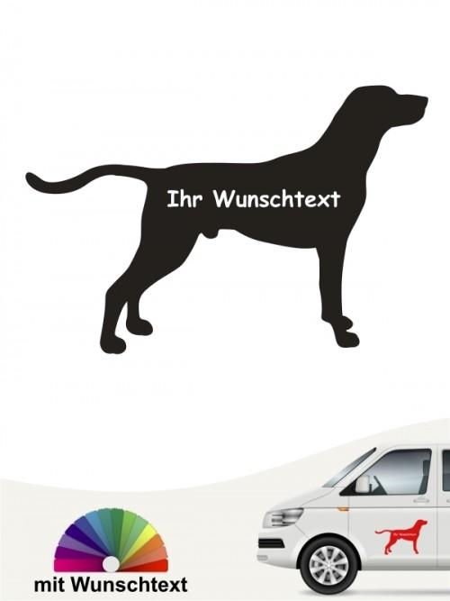 Weimaraner Hundeaufkleber mit Wunschtext anfalas.de