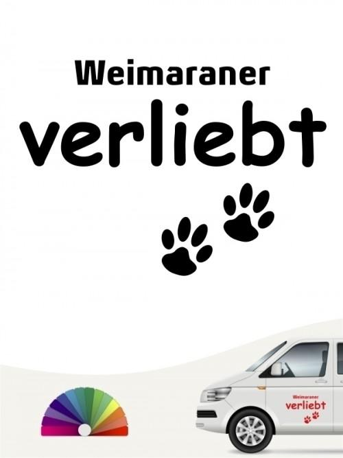 Hunde-Autoaufkleber Weimaraner verliebt von Anfalas.de