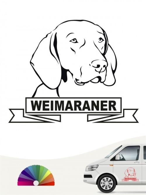 Hunde-Autoaufkleber Weimaraner 15 von Anfalas.de