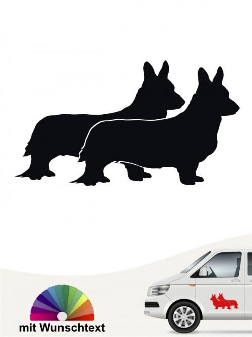 Hunde-Autoaufkleber Welsh Corgi 2 von Anfalas.de